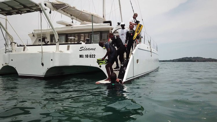 Boating is fun with a Trimaran in Nosy Be