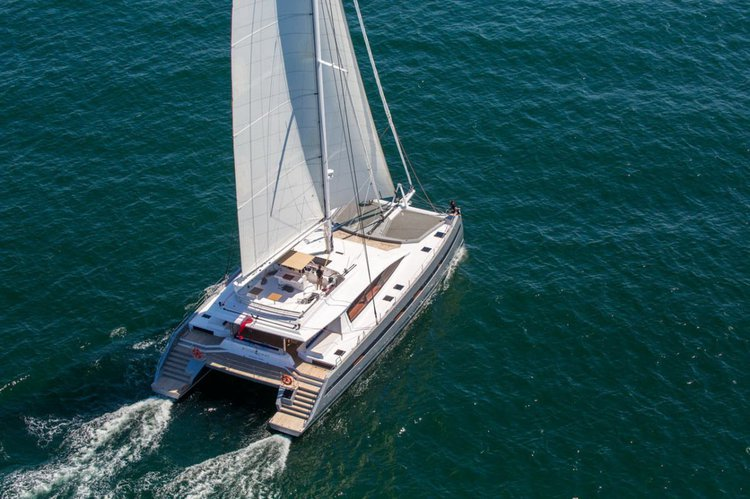 Take this awesome 86' catamaran for a spin