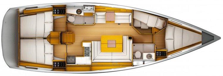 Boat for rent Jenneau 45.0 feet in Cienfuegos,