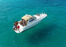 This 41' motor boat rental is perfect to enjoy Cancun