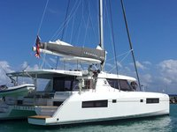 Relax and have fun on this gorgeous 45' Leopard Catamaran charter