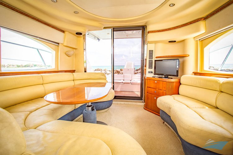 Discover Puerto surroundings on this 42 Azimut boat
