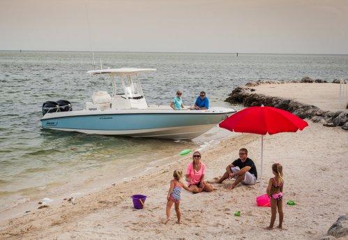 Discover Nassau surroundings on this DAUNTLESS 270 BOSTON WHALER boat