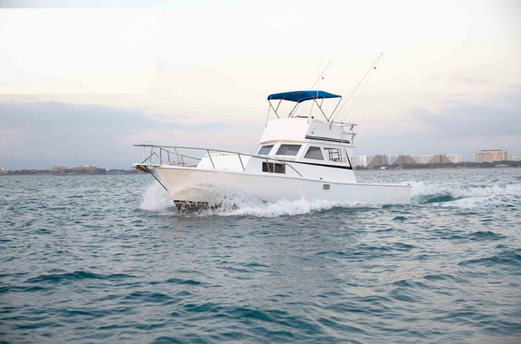 Experience the fishing in Mexico  on a superb motor boat for rent