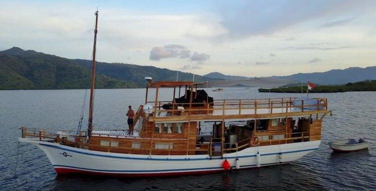 Classic boat rental in Bali, Indonesia