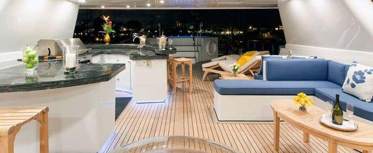 This 143.0' Super Yacht cand take up to 12 passengers around Marina Del Rey