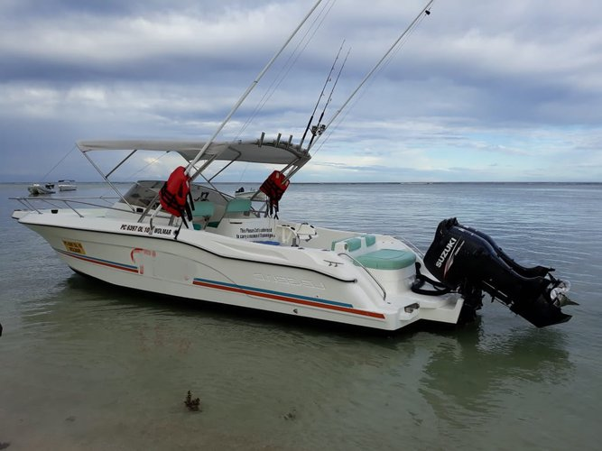 Performance fishing boat for rent in Flic En Flac