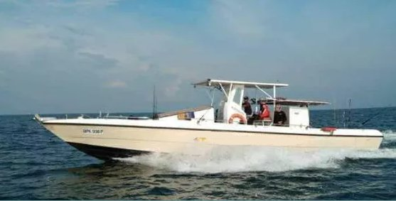 Go for an adventure fishing trip on this elegant motor boat