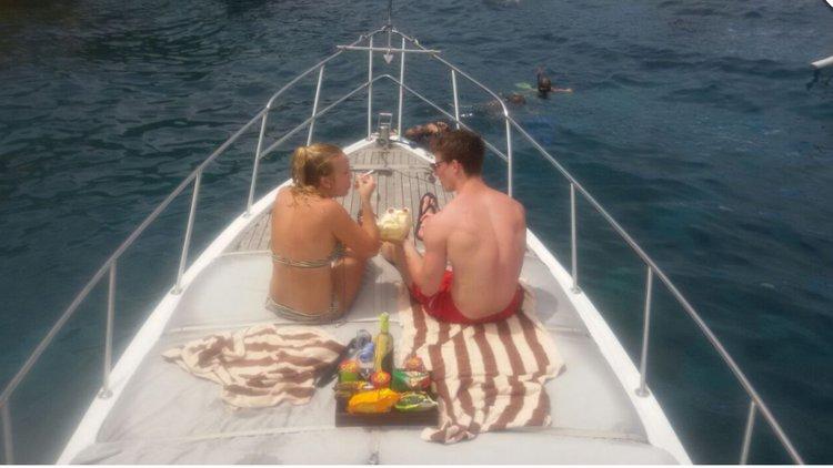 Cuddy cabin boat for rent in Bali