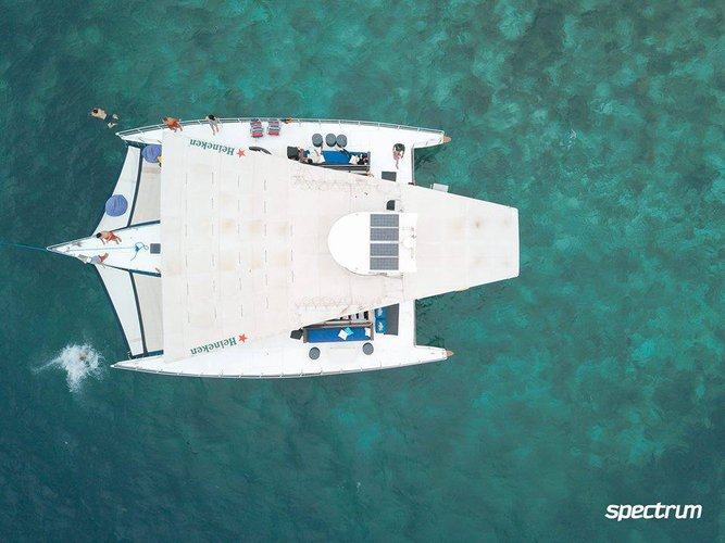 Climb aboard this Trimaran for a great experience!