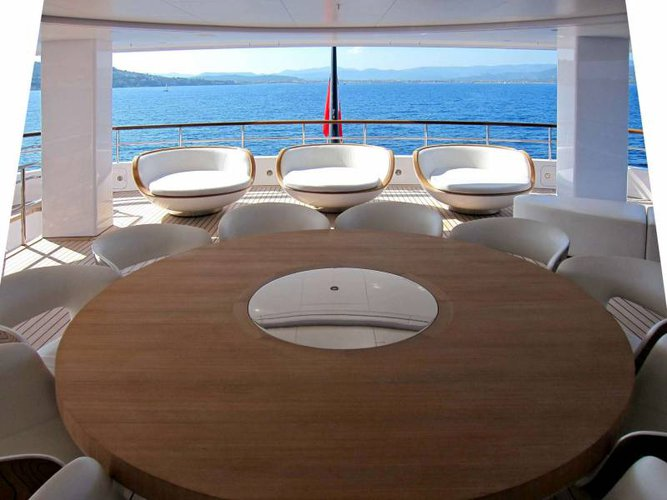 This 265.75' Feadship cand take up to 12 passengers around Sicily