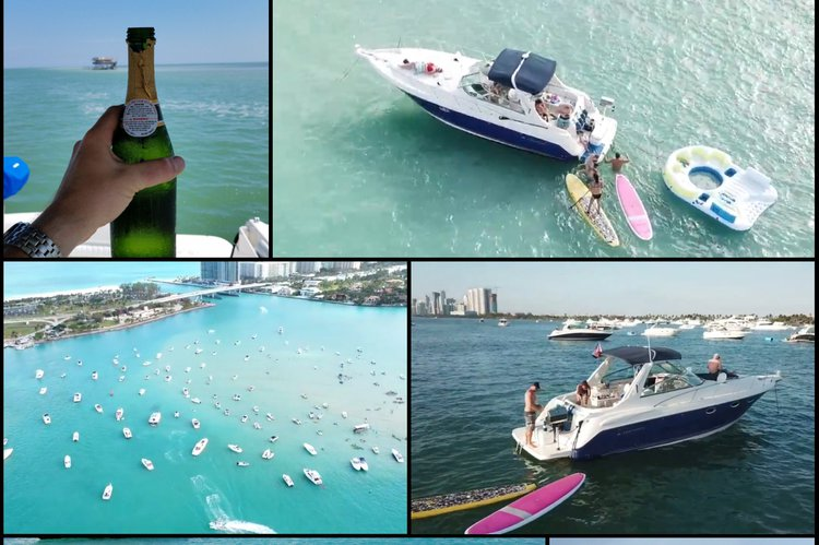 This 36.0' MONTEREY cand take up to 12 passengers around Miami