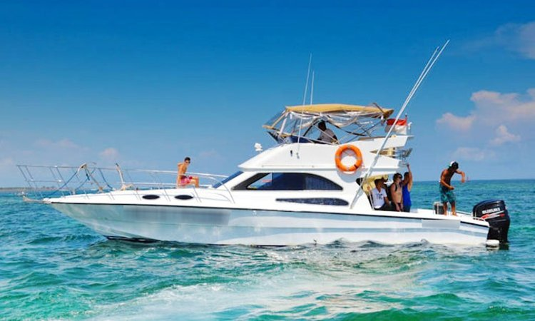 Relax and have fun on this gorgeous motor boat charter in Bali