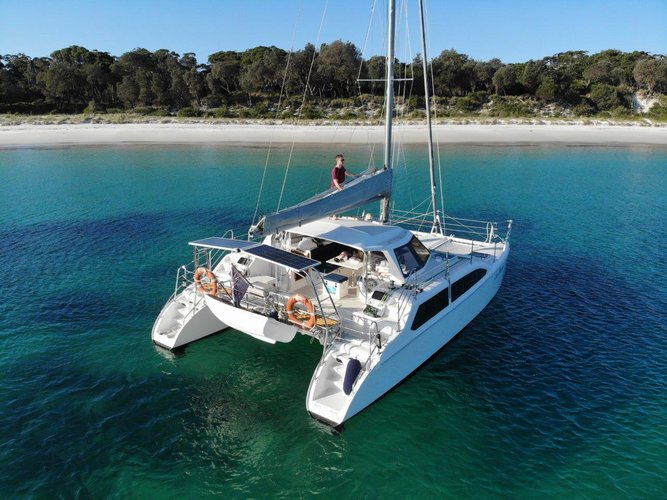 Discover Sydney in style boating on this catamaran rental