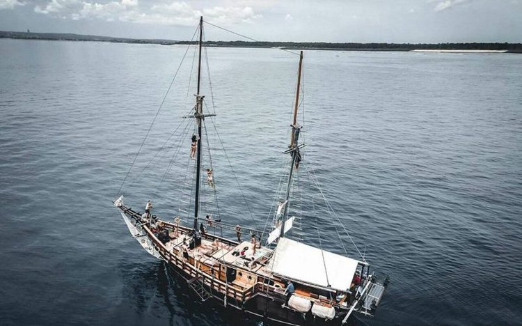 Experience Komodo Islands  on board this elegant Classic Sailboat