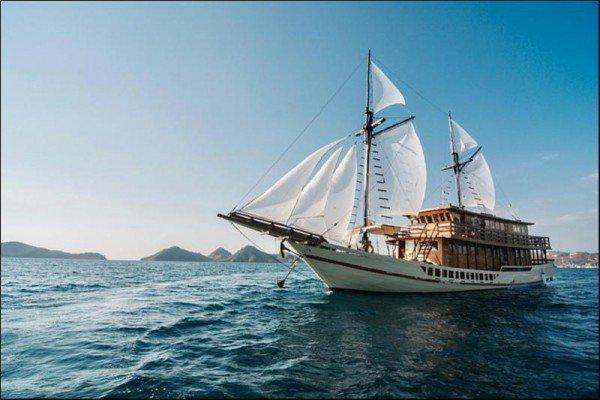 Classic boat rental in Nusa Tenggara, Indonesia