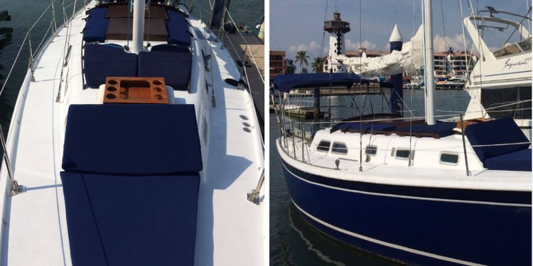 This 35.0' Ericson cand take up to 8 passengers around Nayarit