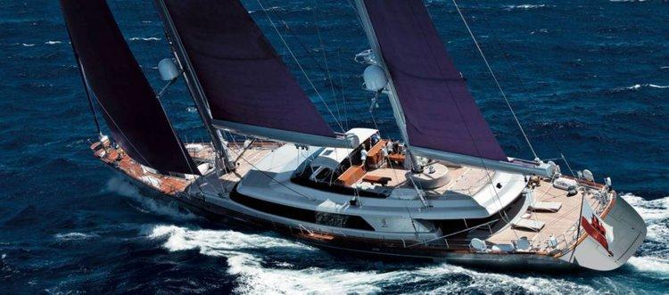 Discover  surroundings on this Custom Perini Navi boat