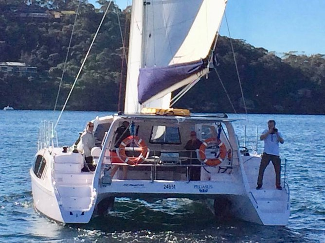 Catamaran boat for rent in Annandale