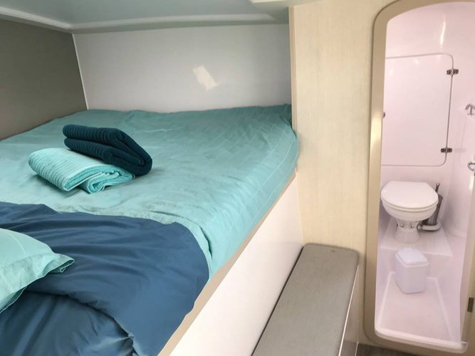 Discover Annandale surroundings on this 1160 Seawind boat