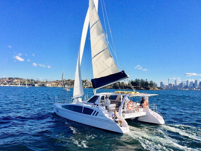 Enjoy luxury and comfort on this Annanda catamaran rental