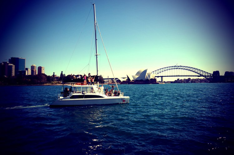 Catamaran boat rental in Sydney, Australia
