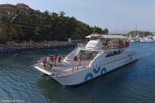 Experience cruising at its best on a this 90' motor catamaran charter