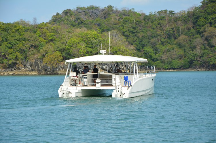 Boating is fun with a Catamaran in Langkawi