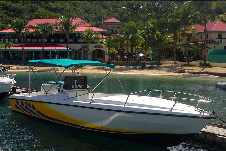 Climb aboard elegant 28' Center Console to explore Virgin Gorda