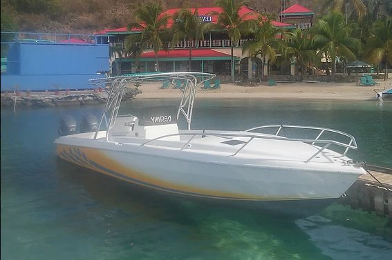 Superb Bradley 30' available for rental in Virgin Gorda