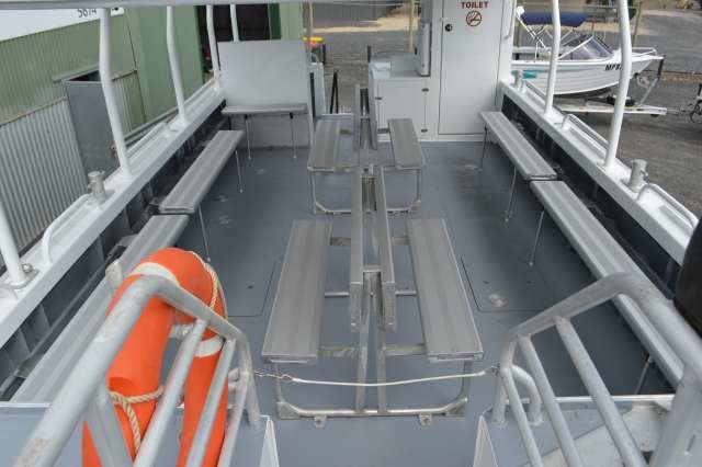 This 30.0' Custom cand take up to 29 passengers around Whitsundays