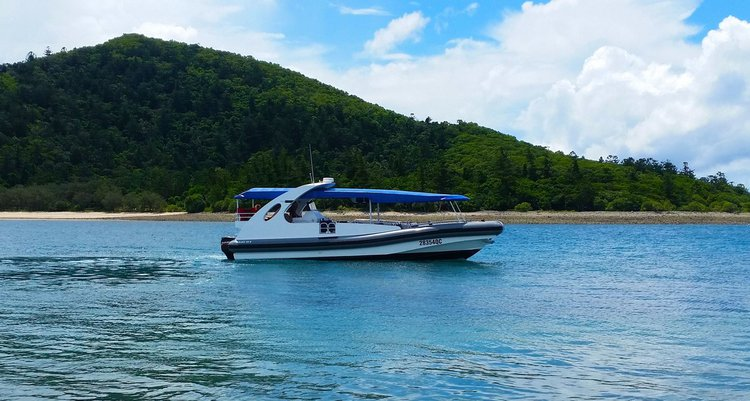 Experience Whitsundays on board this elegant motor boat