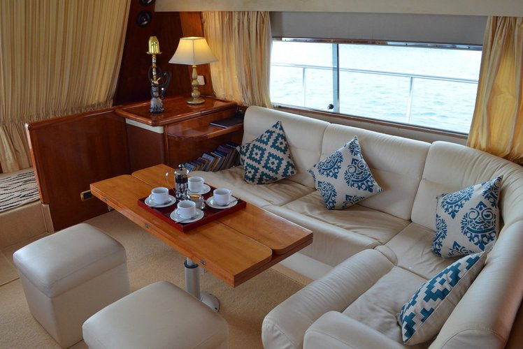 Discover Male surroundings on this Falcon 60 Falcon boat
