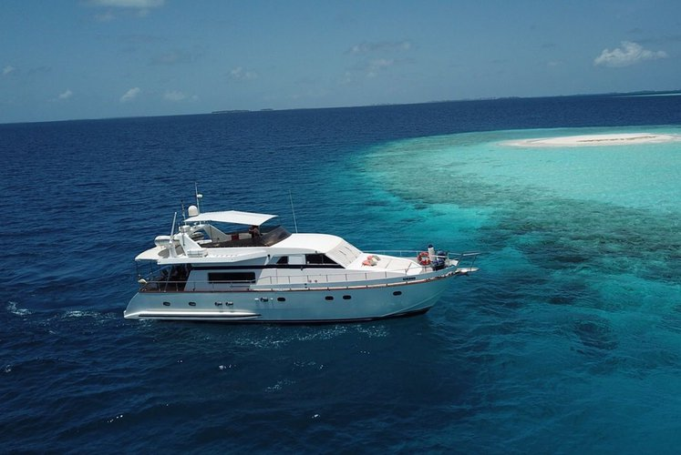 Enjoy the Maldives with this charter.