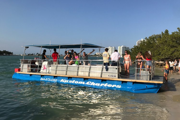 Pontoon boat for rent in Miami