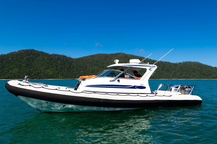 Rigid inflatable boat for rent in Whitsunday