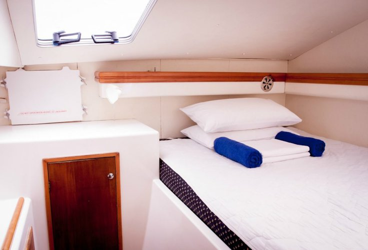 Discover Whitsundays surroundings on this 38 Venturer Seawind boat