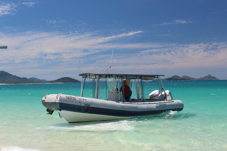 Up to 22 persons can enjoy a ride on this Rigid inflatable boat