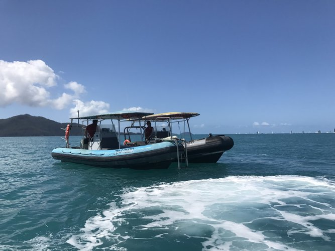 Boating is fun with a Rigid inflatable in Whitsundays