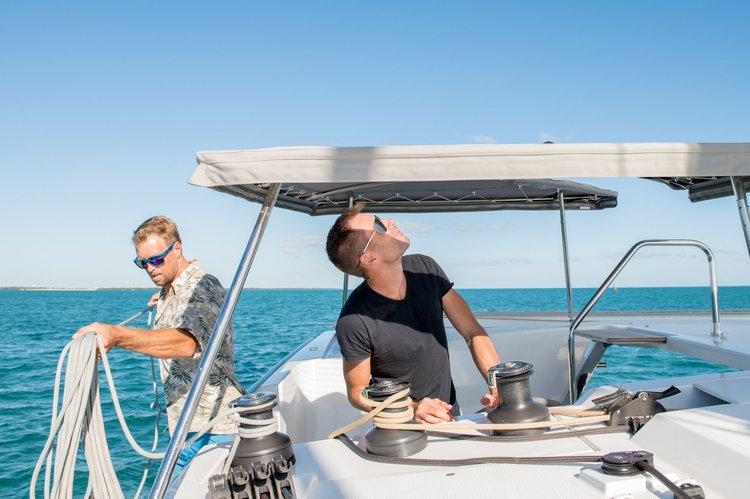 This 38.5' Fountaine Pajot cand take up to 6 passengers around Key West
