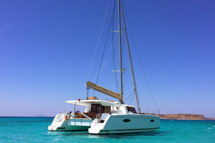 Catamaran boat rental in Marina Cortes, Mexico