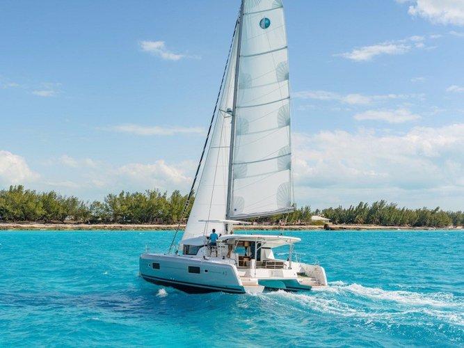 Climb aboard elegant Lagoon 42 to explore Puerto Rico