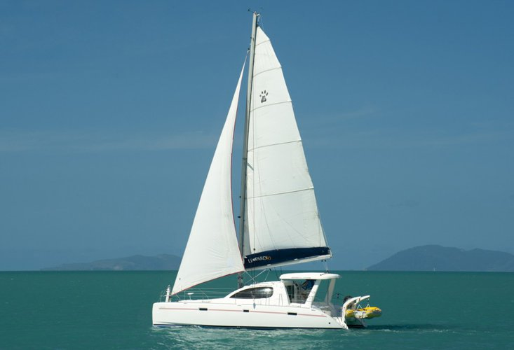 Relax and have fun on this gorgeous sailing catamaran charter