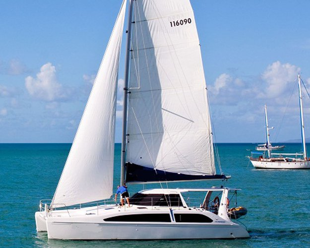 Cruise in style on this beautiful sailing catamaran for charter