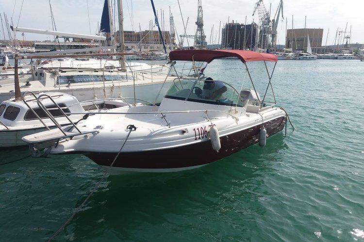 This 21.0' Atlantic Marine cand take up to 8 passengers around Trogir