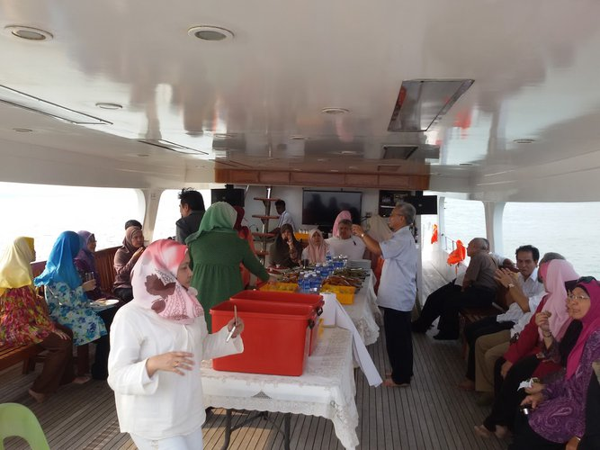 Boating is fun with a Mega yacht in Port Klang