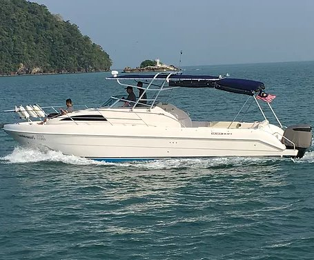 Explore Malaysia on our comfortable motor boat for rent