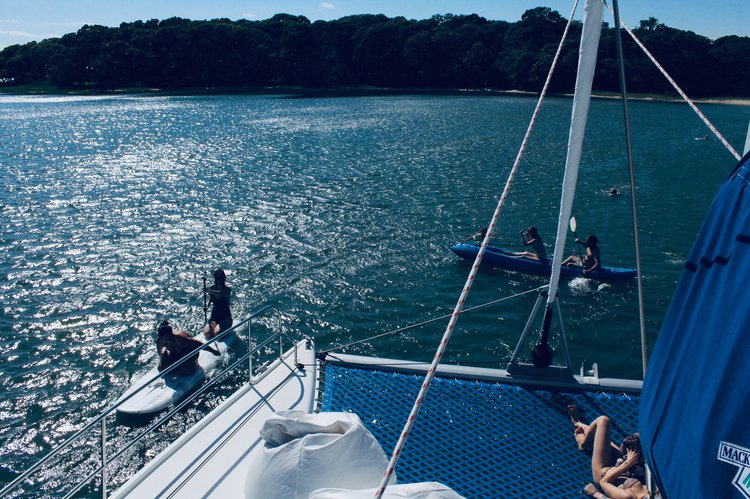 Discover Sag Harbor surroundings on this Athena Fountaine Pajot boat