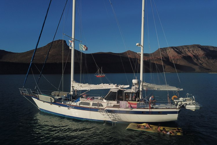 Boating is fun with a Ketch in La Paz