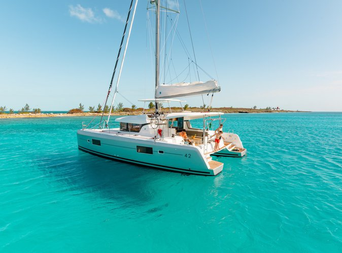FUN time in the Bahamas aboard  this  Lagoon 42